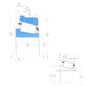 130 mm x 185 mm x 27 mm  Timken JP13049/JP13010B tapered roller bearings