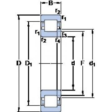 60 mm x 110 mm x 28 mm  SKF NUP 2212 ECML thrust ball bearings