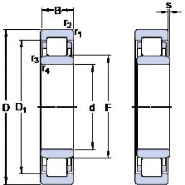 140 mm x 250 mm x 42 mm  SKF NU 228 ECJ thrust ball bearings