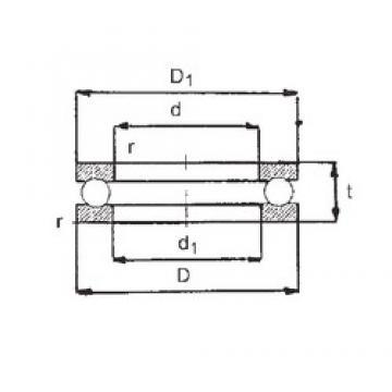 FBJ 51407 thrust ball bearings