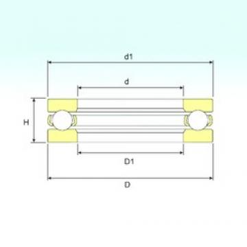 ISB 511/670 M thrust ball bearings