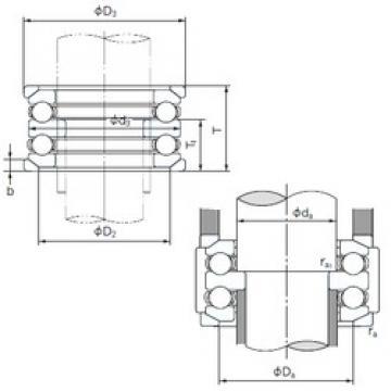 NACHI 54216U thrust ball bearings