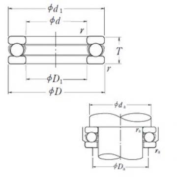 NSK 51116 thrust ball bearings