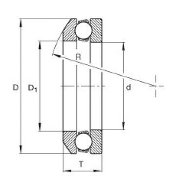 INA 4106 thrust ball bearings