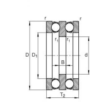 20 mm x 52 mm x 8 mm  FAG 52305 thrust ball bearings