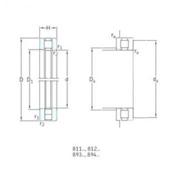 130 mm x 190 mm x 13 mm  SKF 81226TN thrust roller bearings