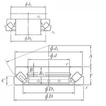 180 mm x 360 mm x 39 mm  KOYO 29436R thrust roller bearings