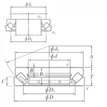 360 mm x 500 mm x 25 mm  KOYO 29272 thrust roller bearings