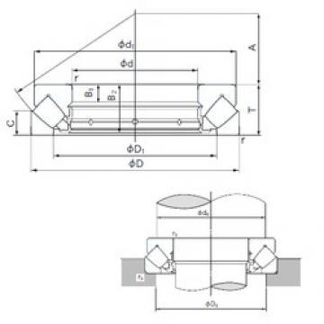 360 mm x 560 mm x 41 mm  NACHI 29372E thrust roller bearings