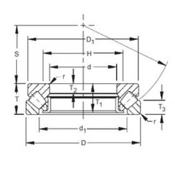 600 mm x 900 mm x 61 mm  Timken 293/600 thrust roller bearings