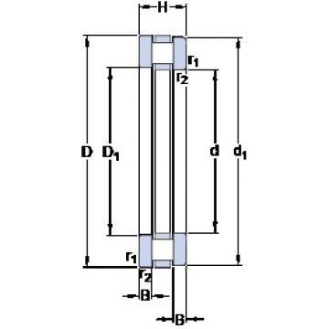 850 mm x 1000 mm x 26 mm  SKF 891/850 M thrust roller bearings