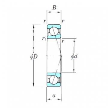 55 mm x 100 mm x 21 mm  KOYO 7211CPA angular contact ball bearings