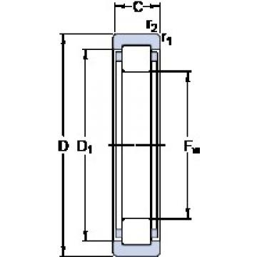SKF RNU 1009 ECP cylindrical roller bearings