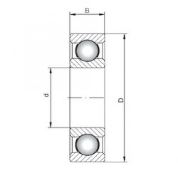 130 mm x 280 mm x 58 mm  ISO 6326 deep groove ball bearings
