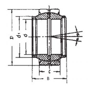 400 mm x 540 mm x 190 mm  FBJ GEC400XS plain bearings