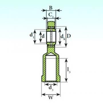 35 mm x 55 mm x 25 mm  ISB SI 35 ES 2RS plain bearings