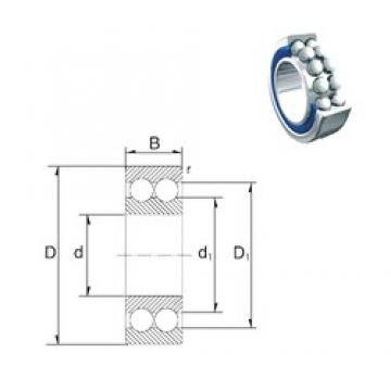6 mm x 17 mm x 6 mm  ZEN 30/6-2Z angular contact ball bearings