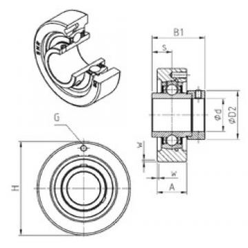 SNR EXC208 bearing units