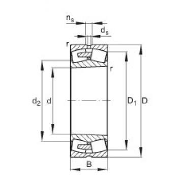 360 mm x 540 mm x 134 mm  FAG 23072-E1A-K-MB1 spherical roller bearings