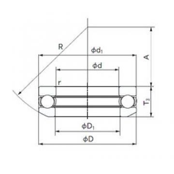 NACHI 53332 thrust ball bearings