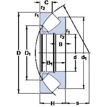560 mm x 980 mm x 99 mm  SKF 294/560 EM thrust roller bearings
