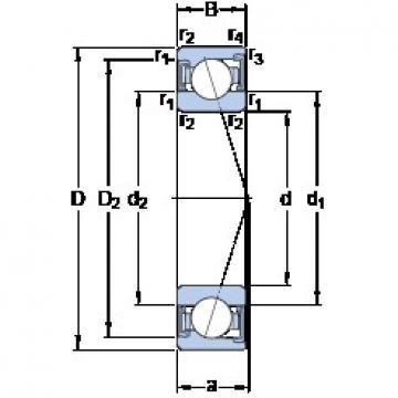 80 mm x 125 mm x 22 mm  SKF S7016 ACD/P4A angular contact ball bearings
