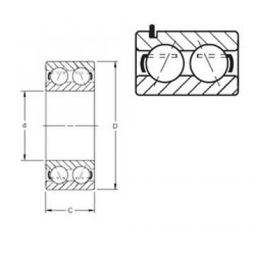 60 mm x 110 mm x 36,53 mm  Timken 5212KG angular contact ball bearings