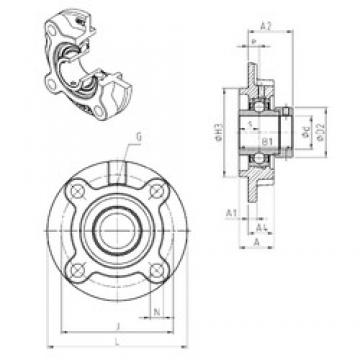 SNR EXFC206 bearing units