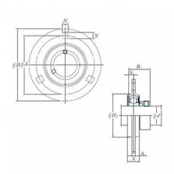 KOYO SAPF207-21 bearing units