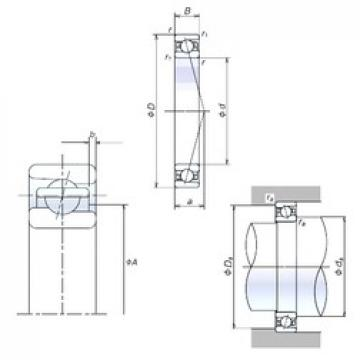 70 mm x 110 mm x 20 mm  NSK 70BER10S angular contact ball bearings