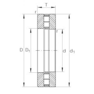 INA 89312-TV thrust roller bearings