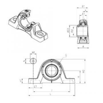SNR UCPE208 bearing units