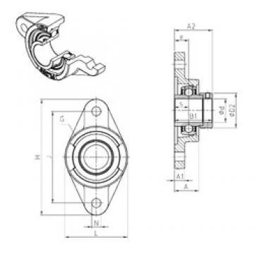 SNR EXFL307 bearing units