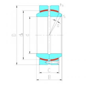 600 mm x 800 mm x 272 mm  LS GEC600HCS plain bearings