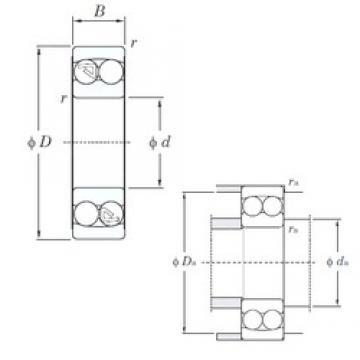 100 mm x 180 mm x 46 mm  KOYO 2220 self aligning ball bearings