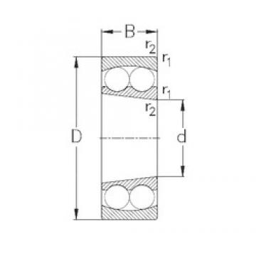 80 mm x 170 mm x 39 mm  NKE 1316-K self aligning ball bearings