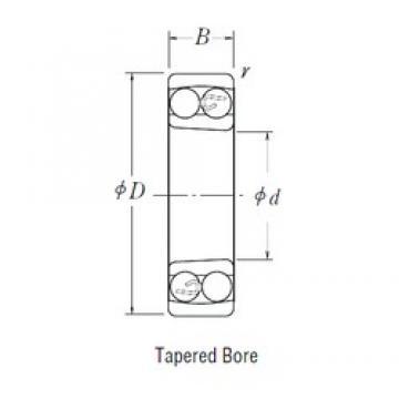 35 mm x 80 mm x 21 mm  NSK 1307 K self aligning ball bearings