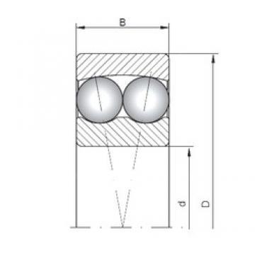 8 mm x 22 mm x 7 mm  ISO 108 self aligning ball bearings