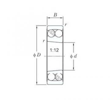 80 mm x 140 mm x 33 mm  KOYO 2216K self aligning ball bearings