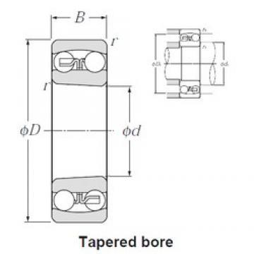 35 mm x 80 mm x 21 mm  NTN 1307SK self aligning ball bearings
