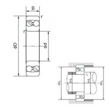 105 mm x 190 mm x 50 mm  NACHI 2221 self aligning ball bearings