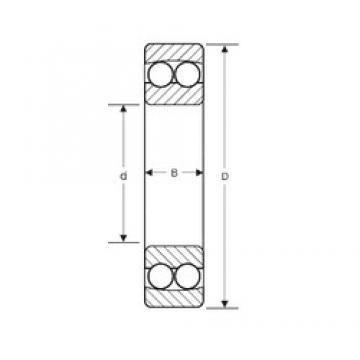 152,4 mm x 304,8 mm x 57,15 mm  SIGMA NMJ 6E self aligning ball bearings