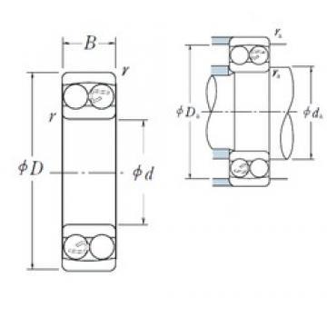 60 mm x 110 mm x 28 mm  NSK 2212 self aligning ball bearings