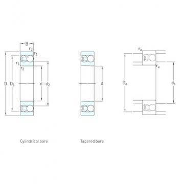 30 mm x 72 mm x 27 mm  SKF 2306K self aligning ball bearings