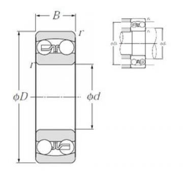 40 mm x 80 mm x 18 mm  NTN 1208S self aligning ball bearings