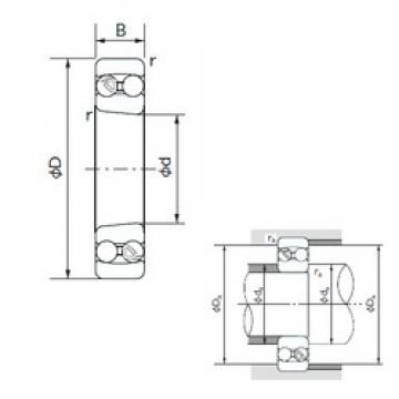 85 mm x 180 mm x 41 mm  NACHI 1317K self aligning ball bearings