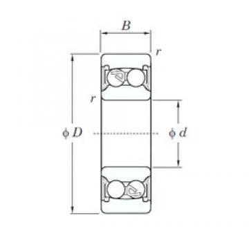17 mm x 40 mm x 16 mm  KOYO 2203-2RS self aligning ball bearings