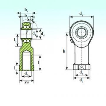 ISB TSF 08 BB self aligning ball bearings