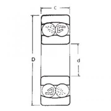 50 mm x 90 mm x 23 mm  FBJ 2210 self aligning ball bearings