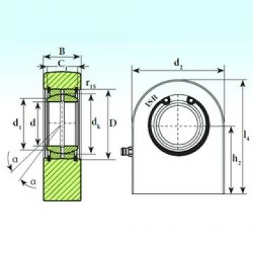 80 mm x 120 mm x 60 mm  ISB T.P.N. 380 plain bearings